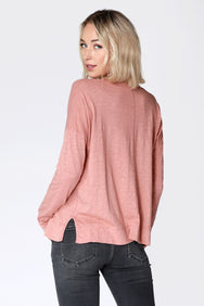 Split Neck Top - bobi Los Angeles