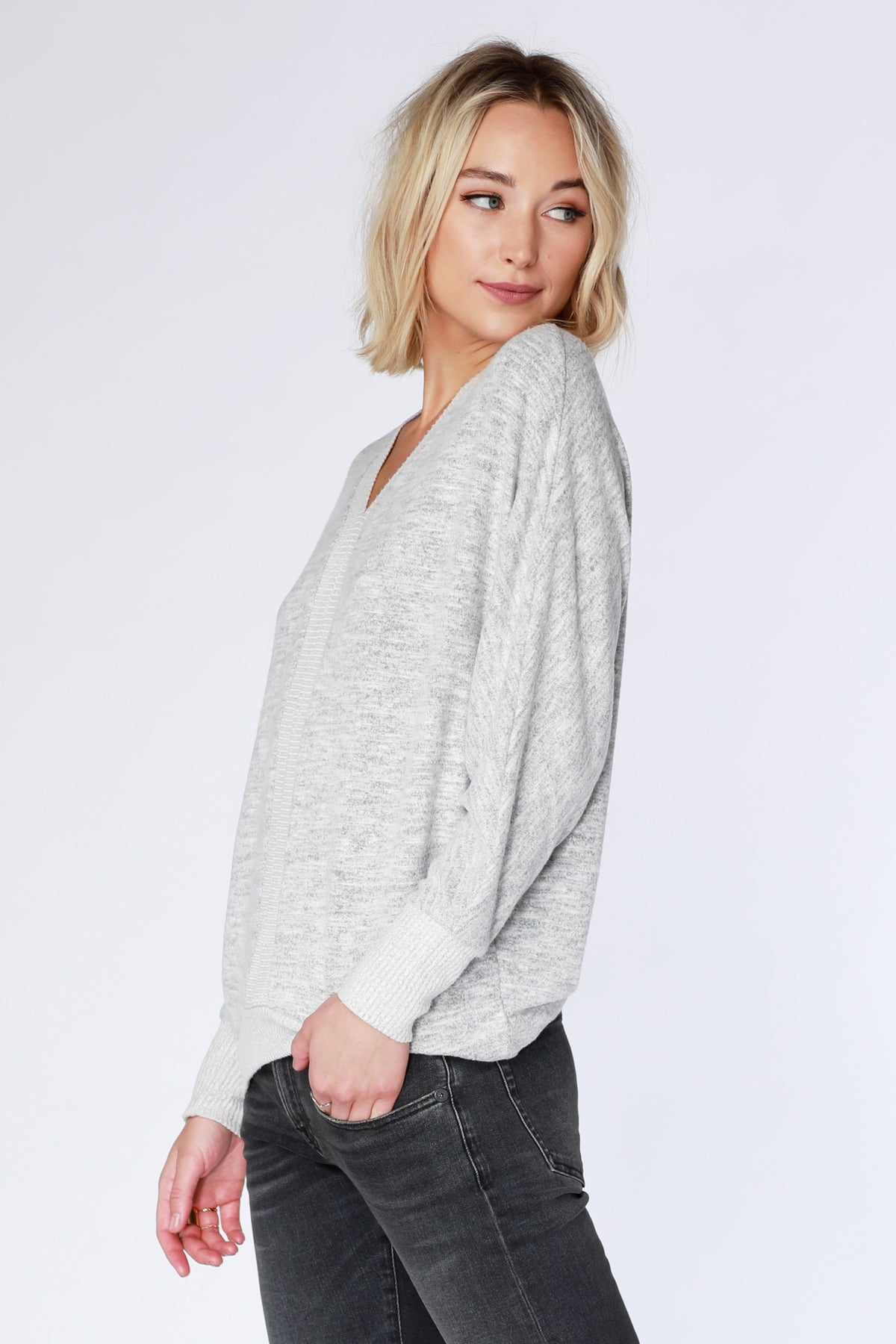 Rib Mix Dolman Top - bobi Los Angeles
