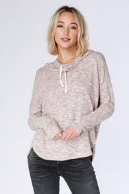 Cozy Funnel Neck Hoodie - bobi Los Angeles