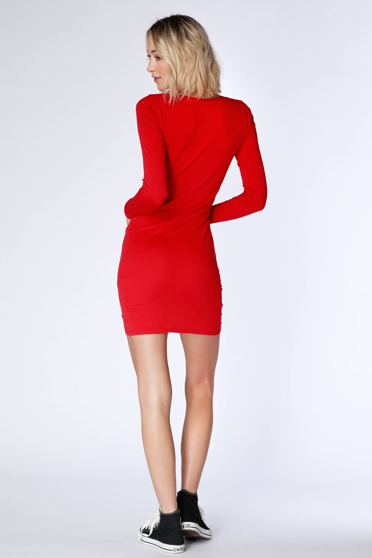 Ruched Side Dress - bobi Los Angeles