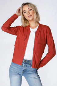 Vintage Inspired Bomber Jacket - bobi Los Angeles