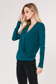 LONG SLEEVE SURPLICE TOP