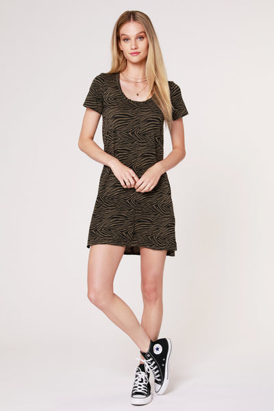 ZEBRA T-SHIRT DRESS