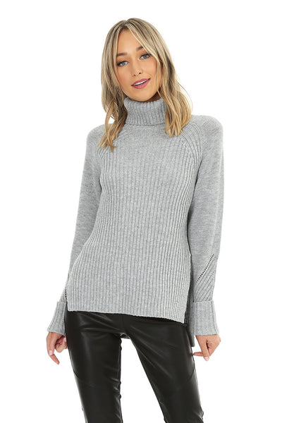 Turtle Neck Sweater - bobi Los Angeles