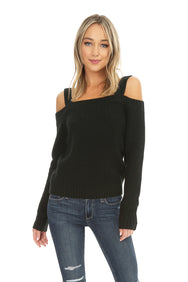 Cold Shoulder Sweater - bobi Los Angeles