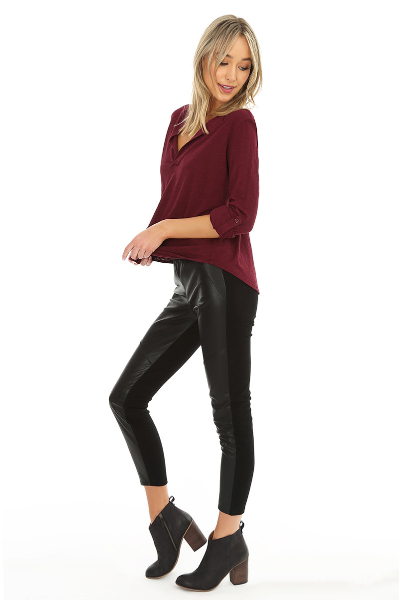 Vegan Leather Legging - bobi Los Angeles