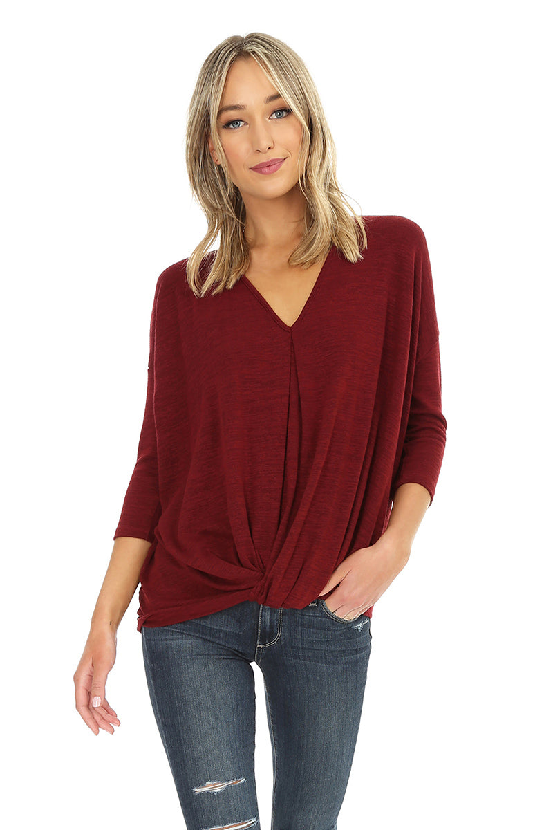 Drop Sleeve Knot Top - bobi Los Angeles