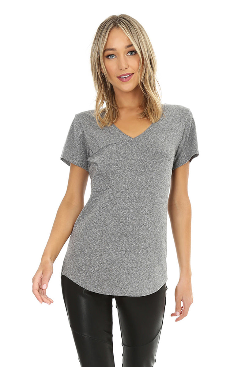 V-neck Pocket Tee - bobi Los Angeles