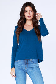 Long Sleeve V-Neck - bobi Los Angeles