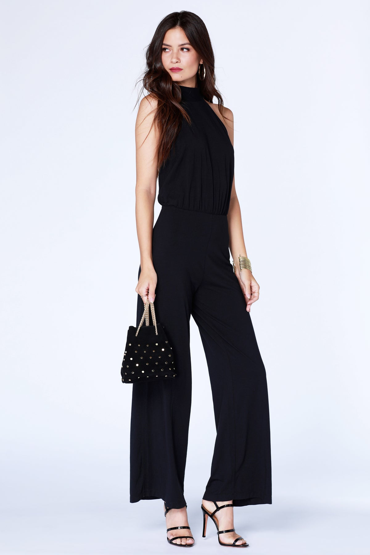 Wide Leg Backless Jumpsuit - bobi Los Angeles