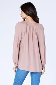 Boho Crepe Blouse - bobi Los Angeles