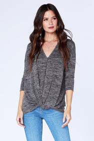 Dolman Twist Hem Top - bobi Los Angeles