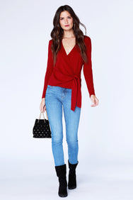 Long Sleeve Wrap Top - bobi Los Angeles