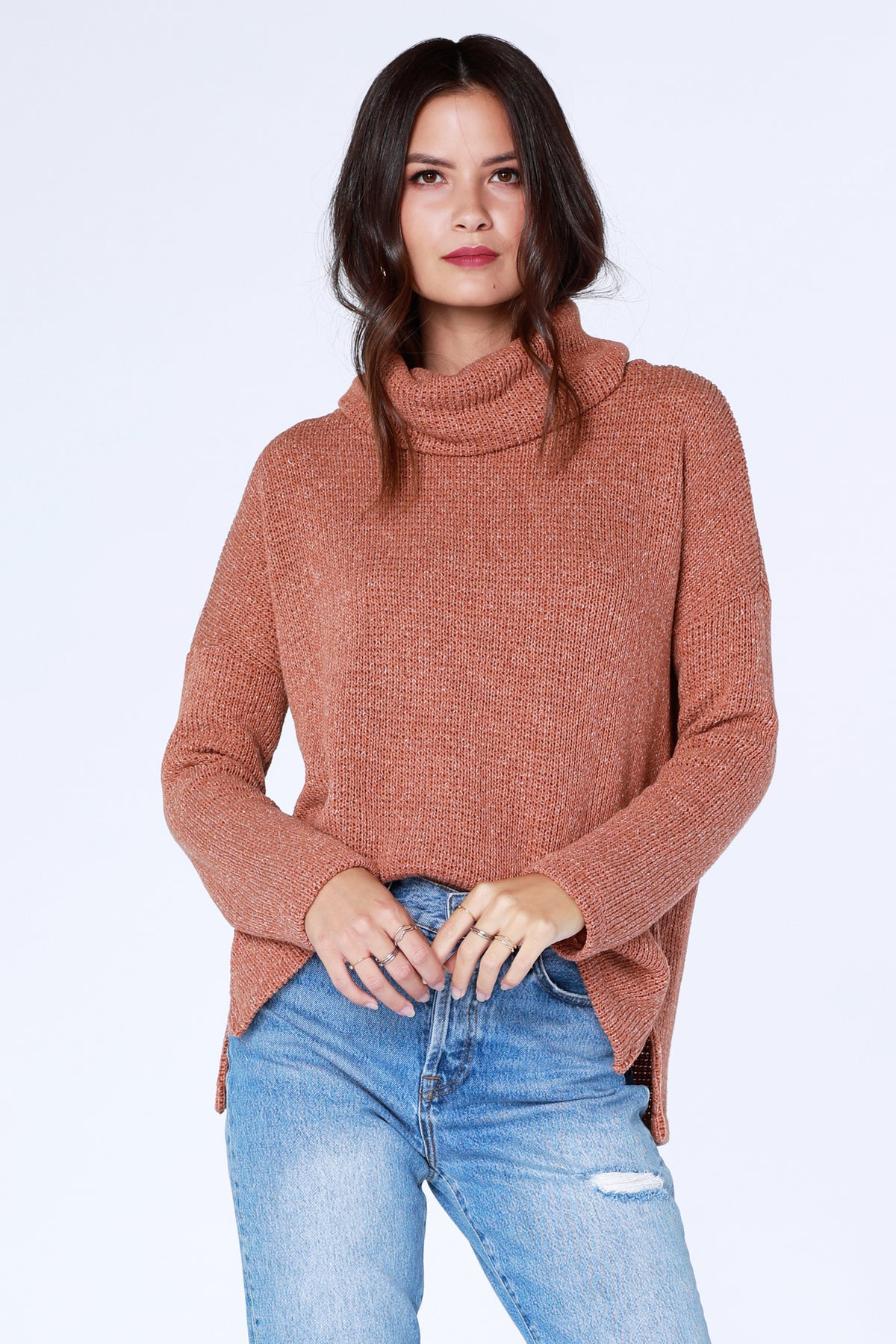Funnel Neck Pullover - bobi Los Angeles
