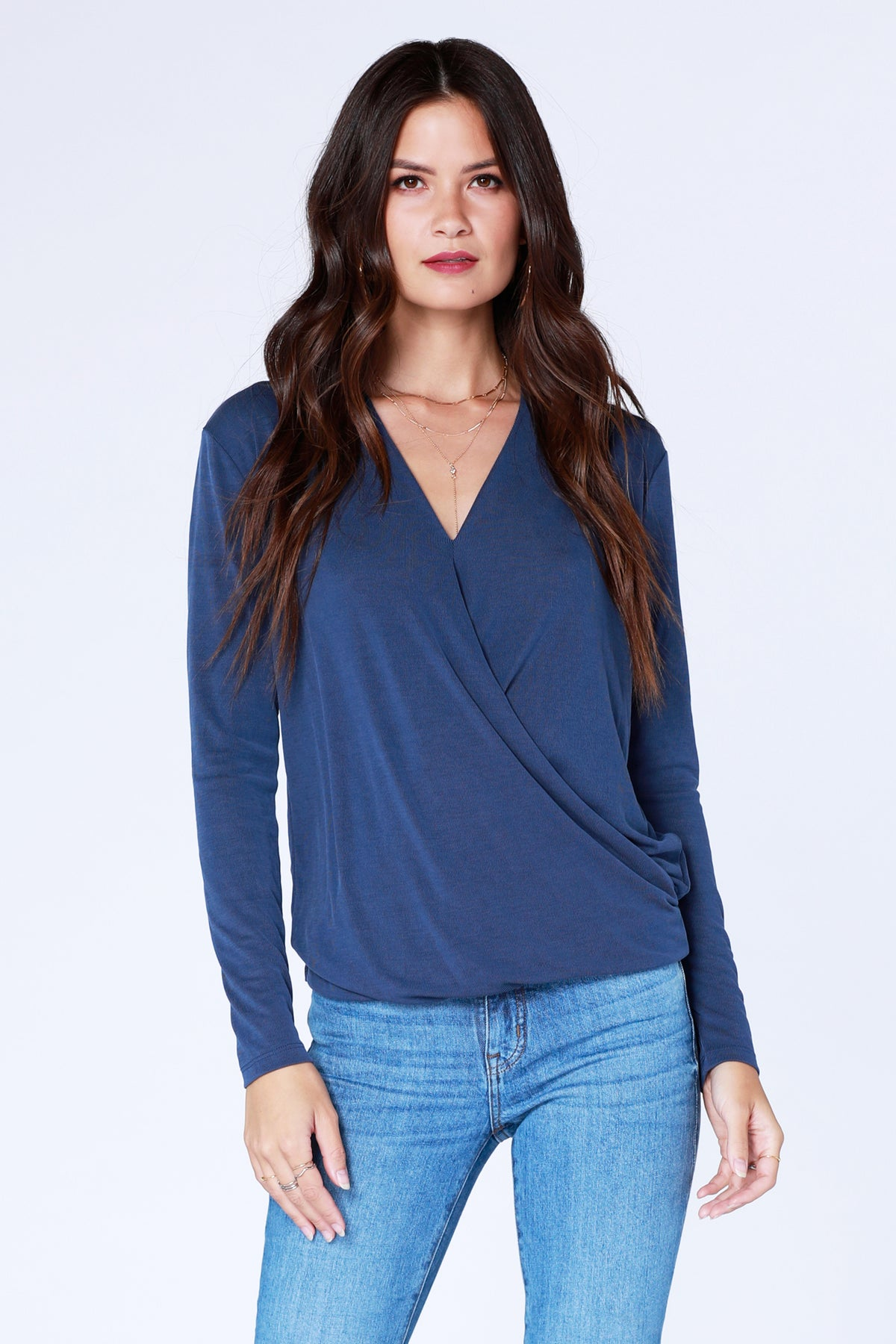 Date Night Surplice Top - bobi Los Angeles