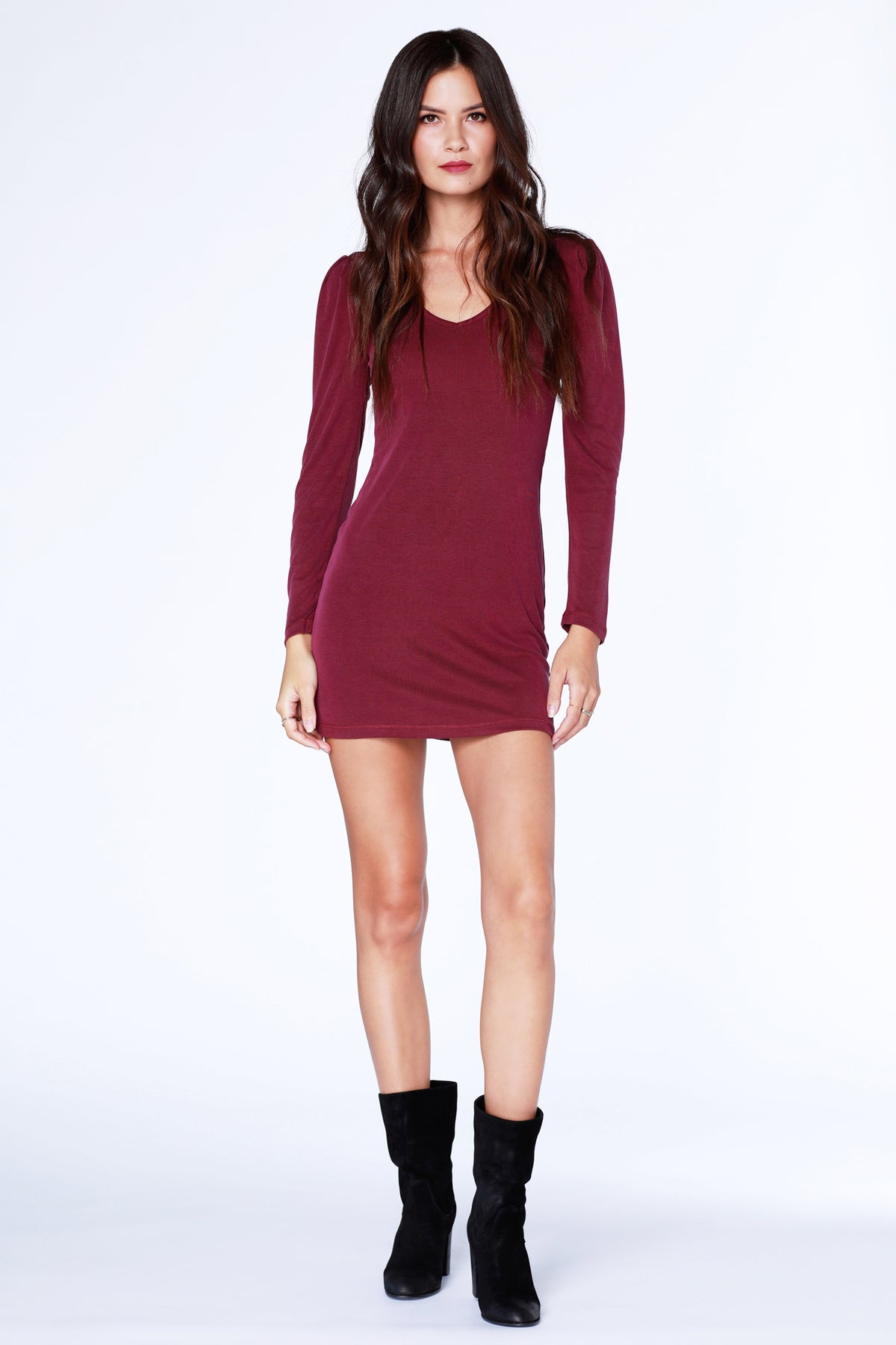Date Night Puff Sleeve Dress - bobi Los Angeles