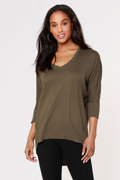 RIB MIX DOLMAN TUNIC