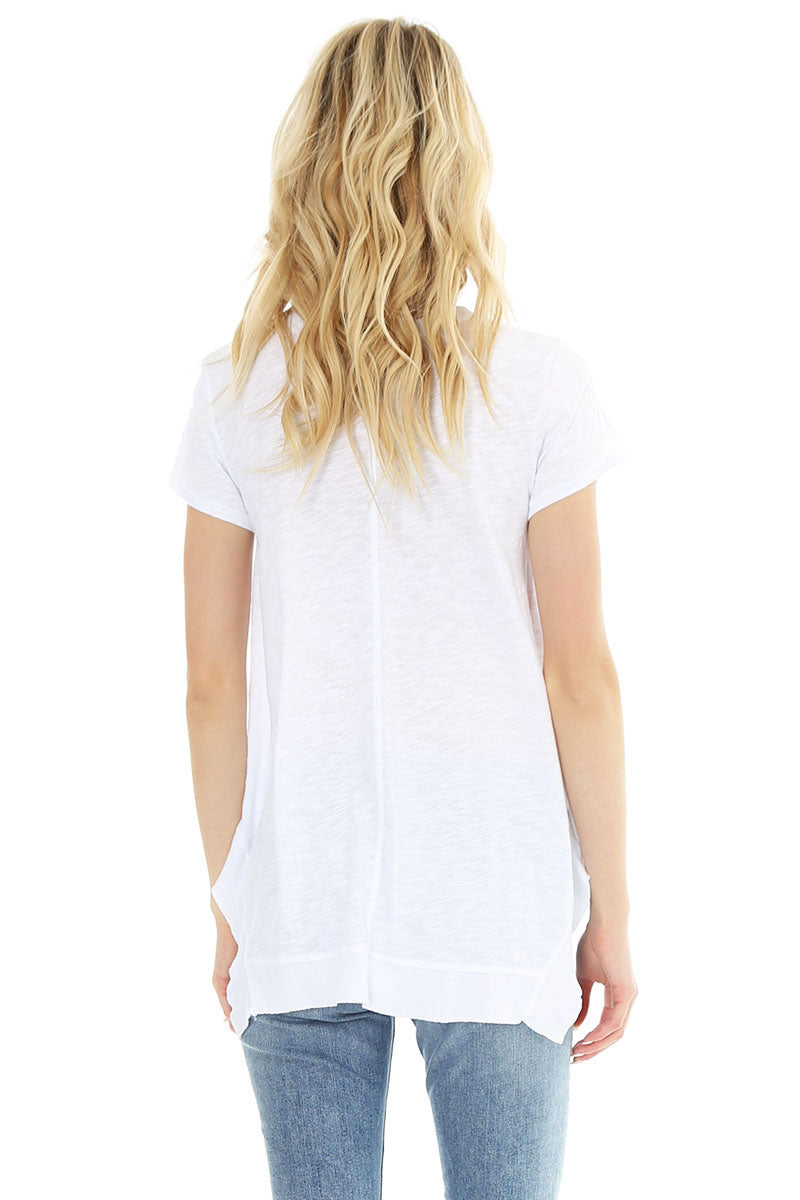 Short Sleeve Slub Tunic - bobi Los Angeles