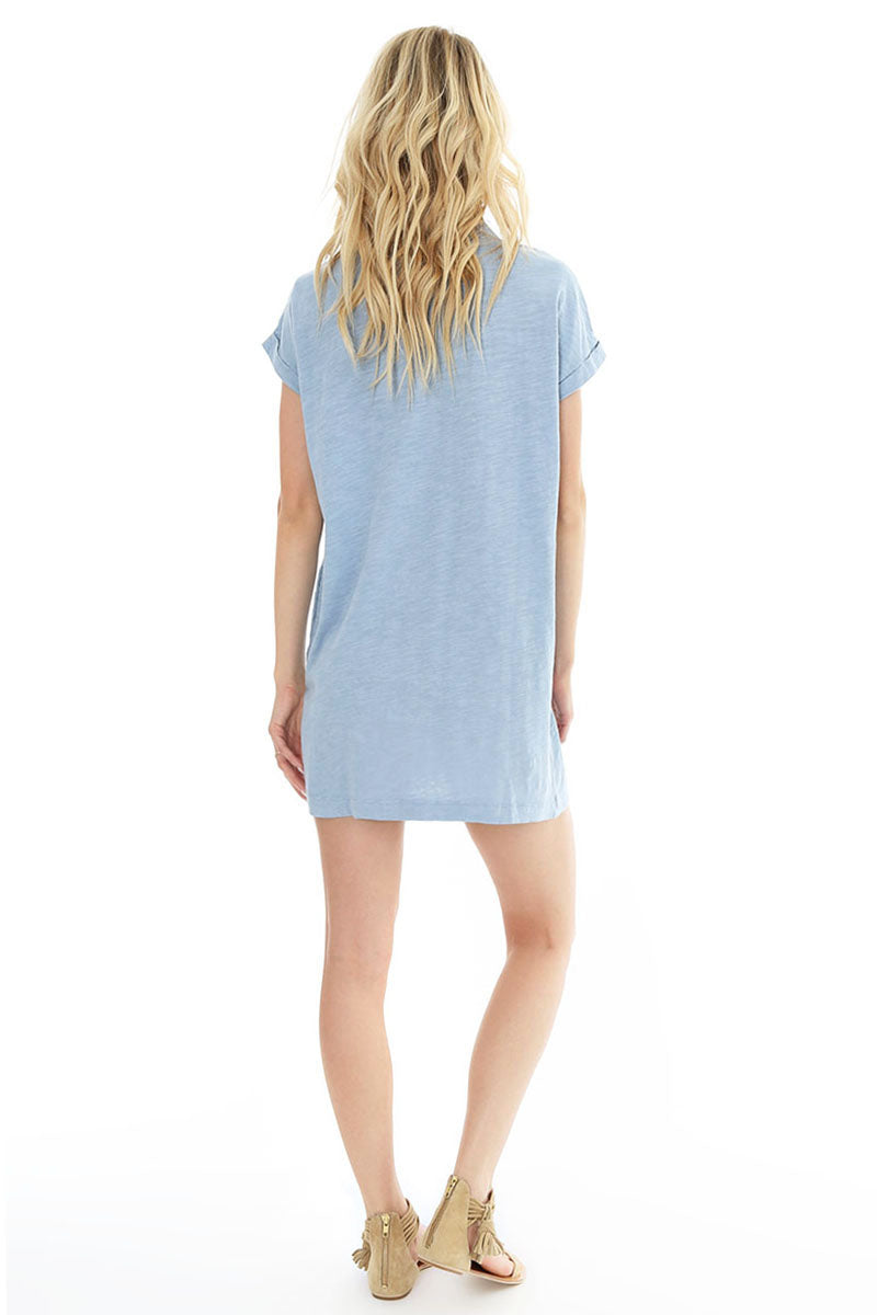 S/s Dolman V-neck Dress - bobi Los Angeles