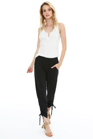 Side Shirred Pant - bobi Los Angeles