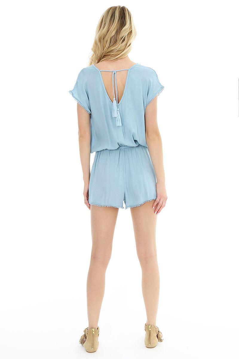 Tie Back Romper - bobi Los Angeles