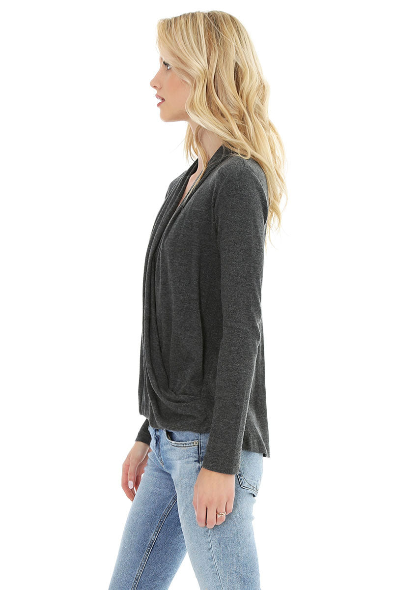 L/s Surplice Top - bobi Los Angeles