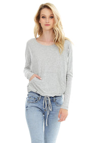 Drawstring Hem Top - bobi Los Angeles