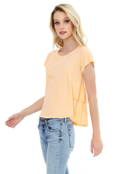 Ruffle Back Tee - bobi Los Angeles
