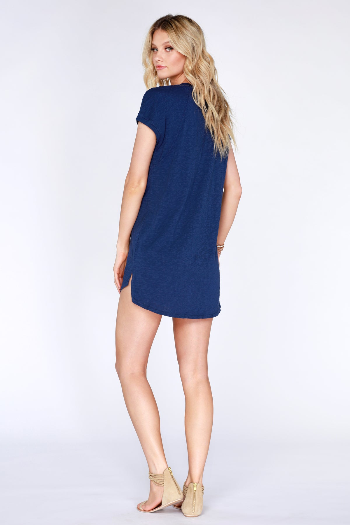 Cap Sleeve Raglan Dress - bobi Los Angeles