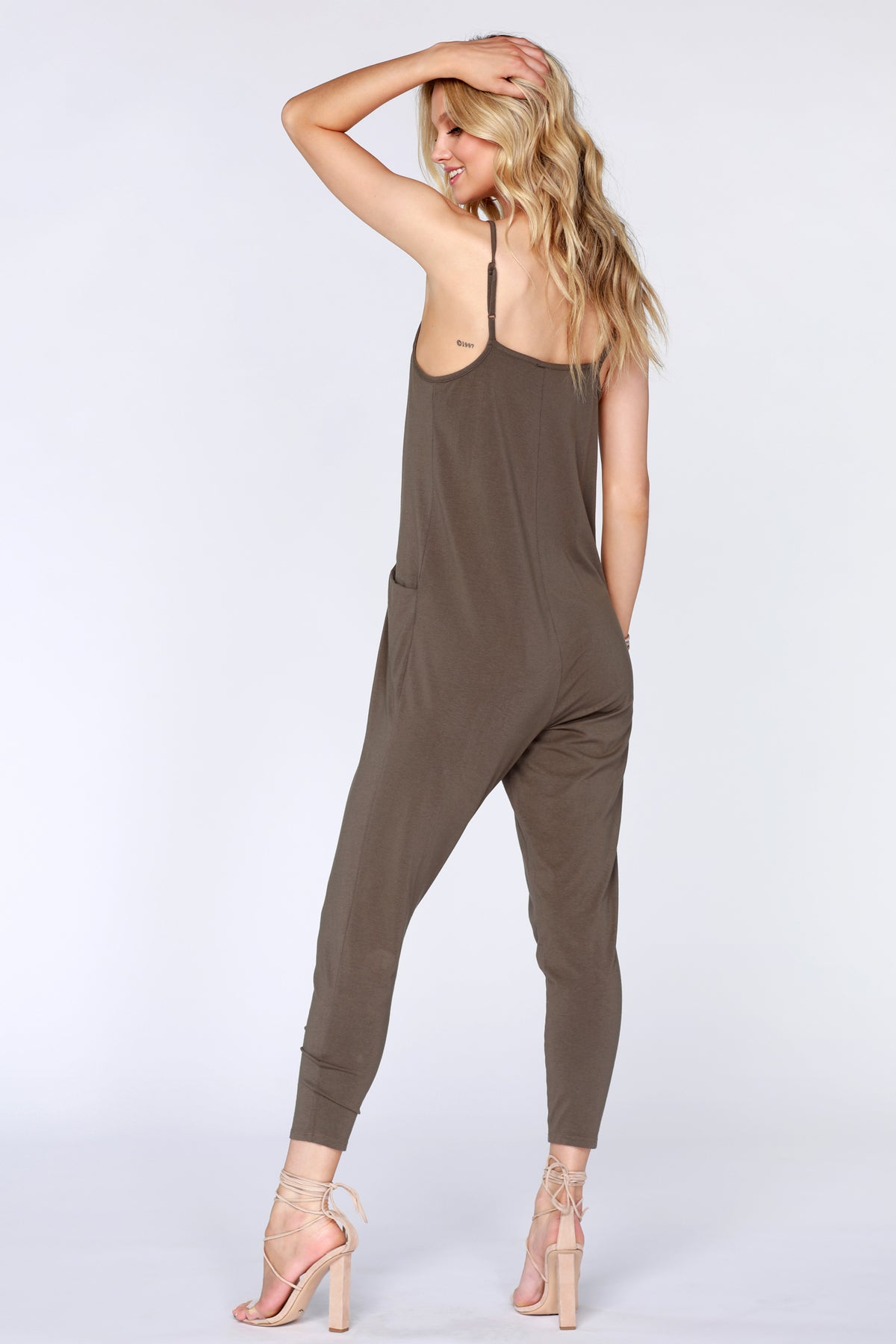 Dropped Armhole Jumpsuit - bobi Los Angeles