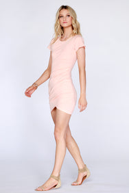 Short Sleeve Ruched dress - bobi Los Angeles