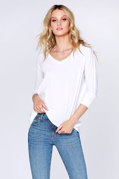 Rib Mixed Dolman Tunic - bobi Los Angeles