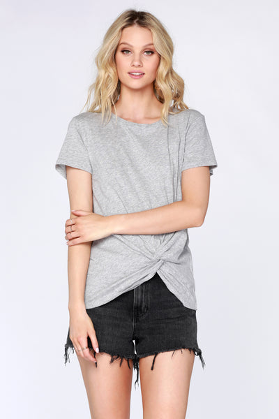 Short Sleeve Knot Tee - bobi Los Angeles