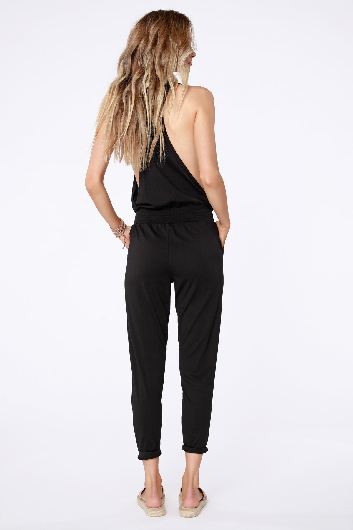 Smocked Waist Jumpsuit