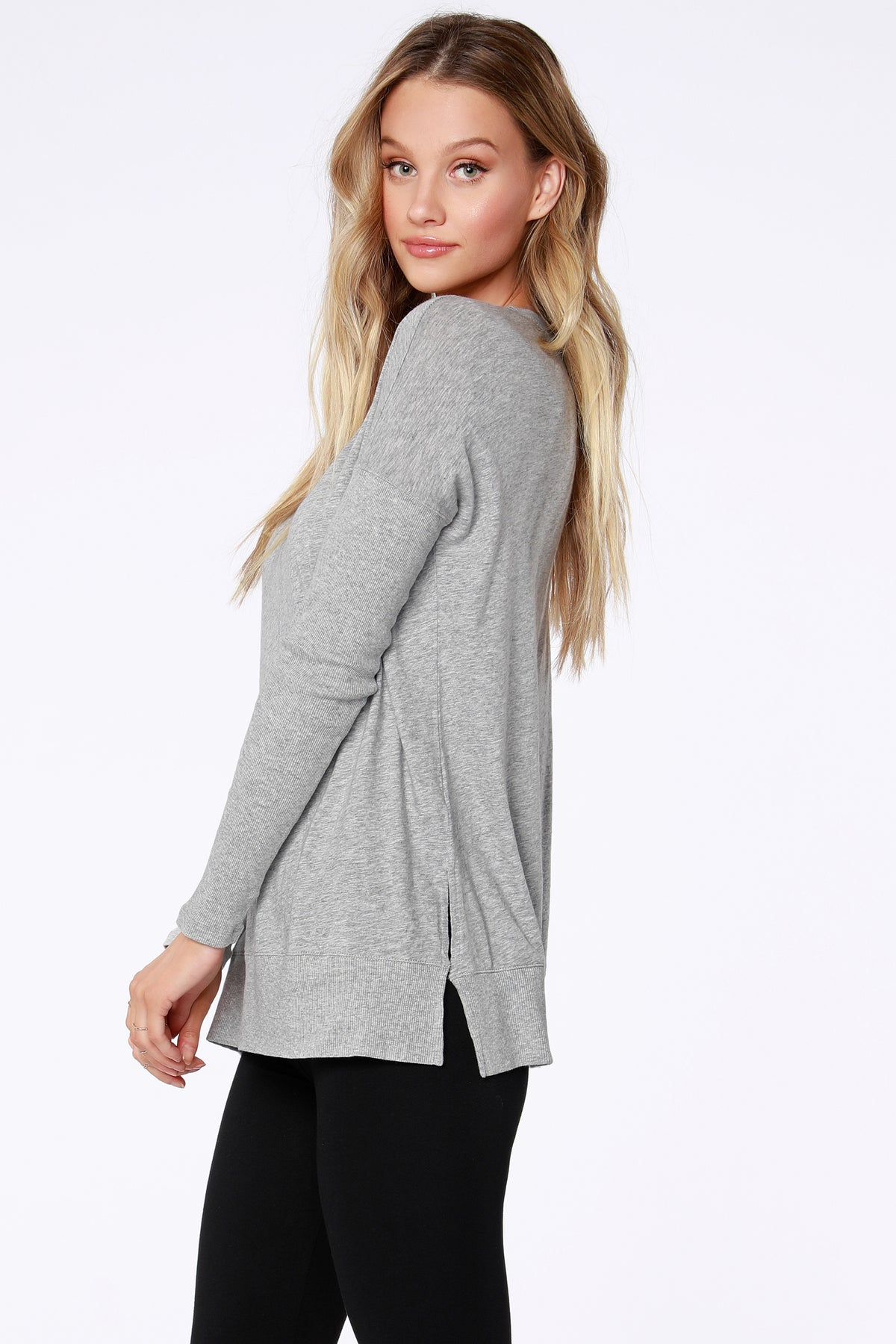 Rib Mix Long Sleeve Tee