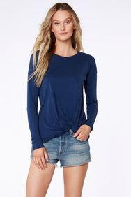 Long Sleeve Tuck Tee