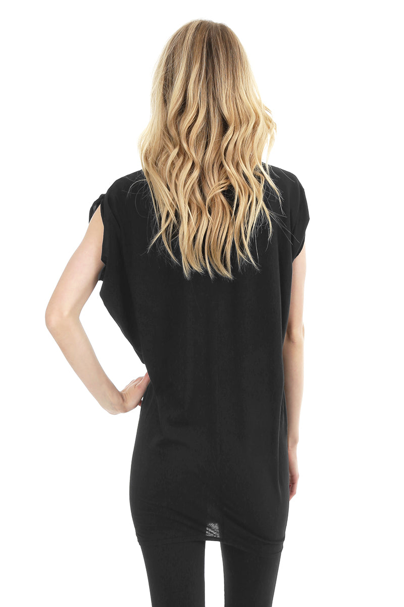 V-Neck Wedge Tunic - bobi Los Angeles
