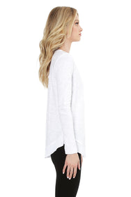 Long Sleeve Round Hem Tee - bobi Los Angeles