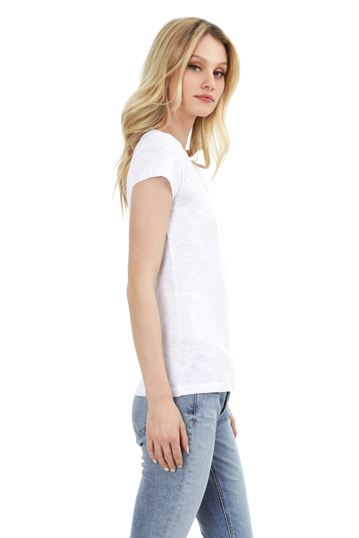 V-Neck Short Sleeve Tee - bobi Los Angeles