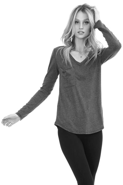 Long Sleeve Pocket Tee - bobi Los Angeles