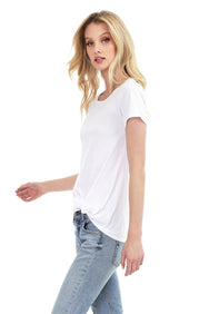 Short Sleeve Faux Tuck Tee - bobi Los Angeles
