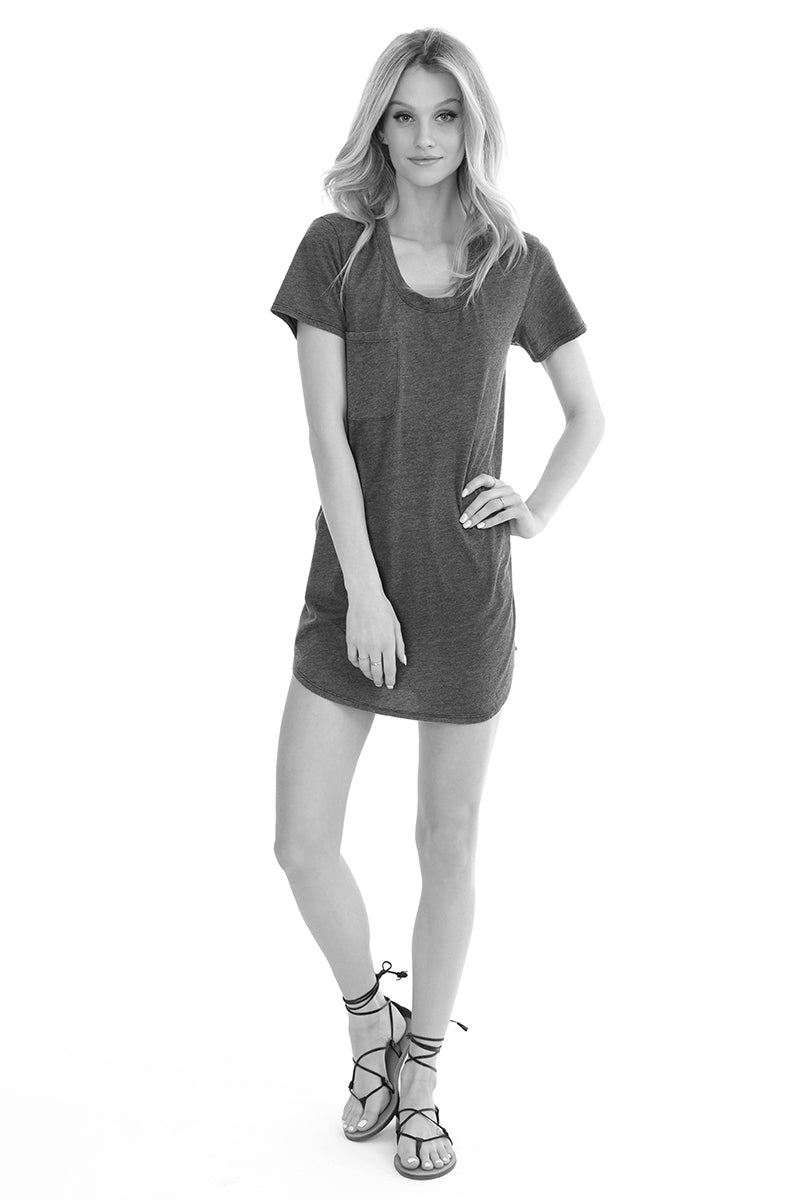 Pocket T-shirt Dress - bobi Los Angeles
