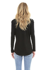 Long Sleeve Boyfriend Tee - bobi Los Angeles