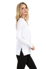 Rib Mix Long Sleeve Tee - bobi Los Angeles