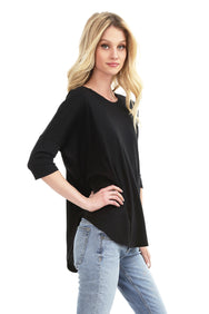 ¾ Sleeve Drop Shoulder Top - bobi Los Angeles