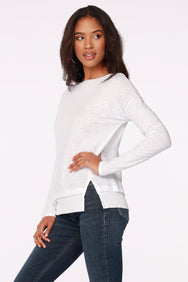 FRONT SLIT BOATNECK TOP