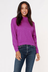 Rib Mix Turtle Neck