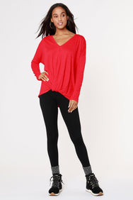 V-NECK KNOT FRONT TOP