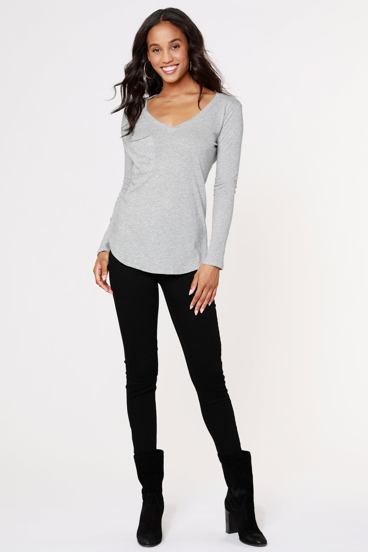 LONG SLEEVE BOYFRIEND TEE