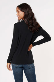 COSMO JERSEY SURPLICE TOP